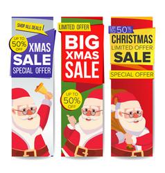 christmas sale banner merry christmas vector image