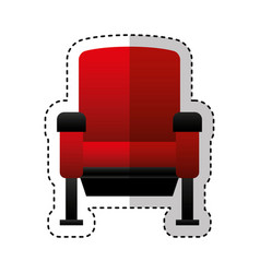 cinema chair isolated icon vector image