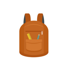 College backpack icon flat style vector