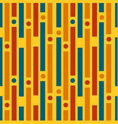 Colored strips and circles geometric pattern vector