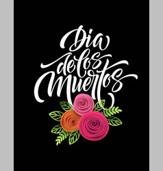 Day of the dead mexican flowers traditional vector
