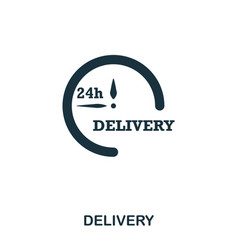 delivery 24 icon mobile apps printing and more vector image