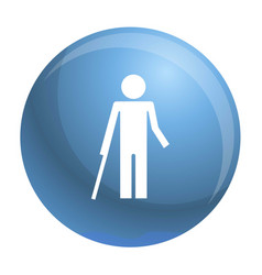 Disability person and healthy kid icon simple vector