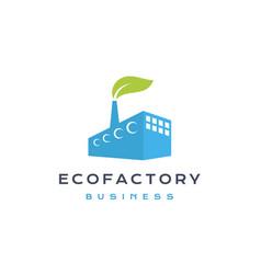 Eco factory logo design modern industrial logo vector