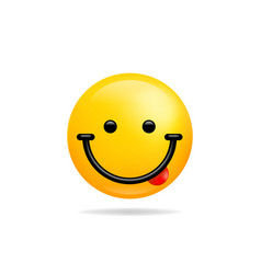 Emoji smile icon symbol smiley face with tongue vector