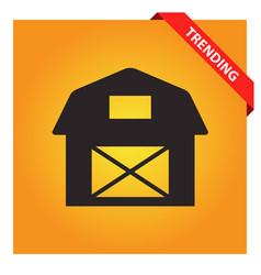 Farmhouse icon vector