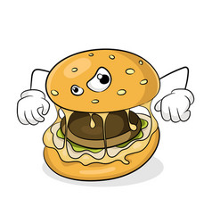 Fast food unhealthy eating concept bad hamburger vector