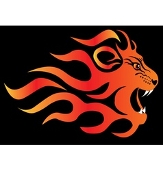 Flame Lion vector image
