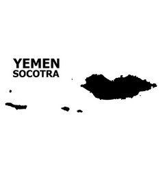 Flat map socotra archipelago with name vector