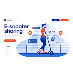 Flat modern design scooter sharing vector