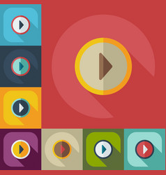 Flat modern design with shadow icons play vector