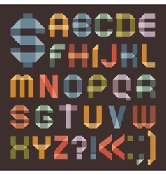 Font from colored scotch tape - Roman alphabet vector image