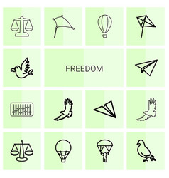 freedom icons vector image