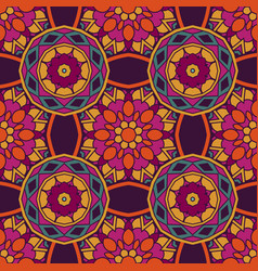geometric flower ethnic seamless pattern vector image