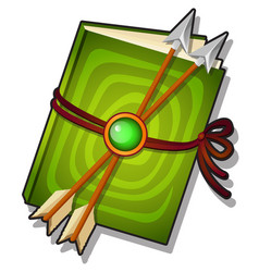 Gift decorated book with arrows isolated on a vector