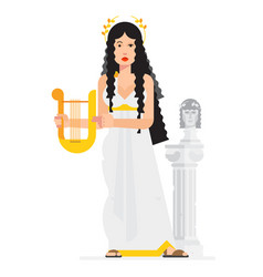 Greek goddess in style cartoon vector