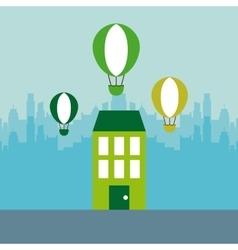Green house icon vector