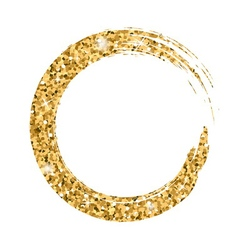 Grunge background circle gold vector