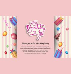 Happy birthday design with birthday elements vector