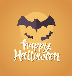 happy halloween - celebration card vector image