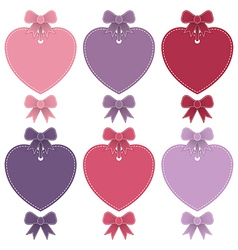 Heart shaped labels vector