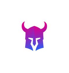 helmet with horns vector image