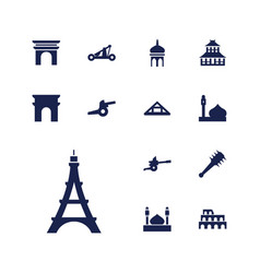 Historic icons vector