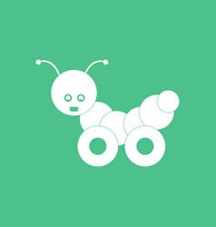 Icon children toy caterpillar vector
