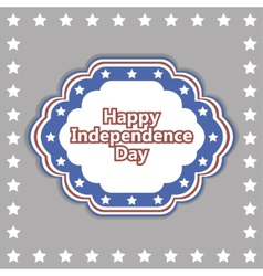 independence day badge poster vector image