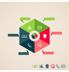 infographic elements for web and print usage vector image