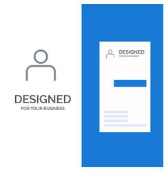 Instagram people profile sets user grey logo vector