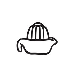 Lemon squeezer sketch icon vector