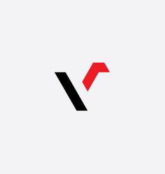 letter v logo black red icon symbol element vector image