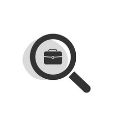 Magnifying glass looking for employment isolated vector