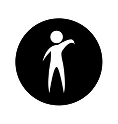 man silhouette isolated icon vector image