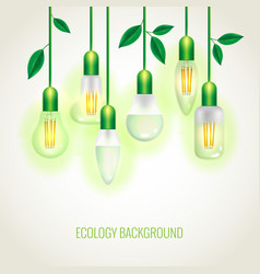Many ecology light bulbs growing up vector