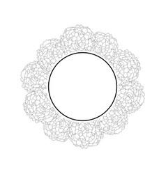 marigold banner wreath outline vector image