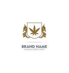 marijuana cannabis decoration logo vector image