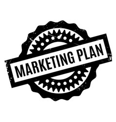 Marketing plan rubber stamp vector