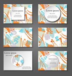 Minimal covers set artistic paint pattern vector