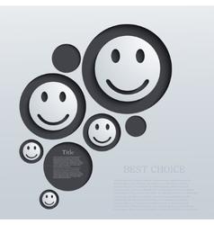 Modern emotions background vector