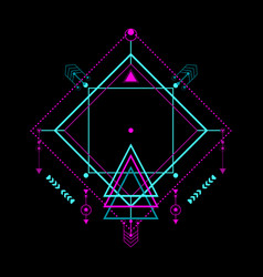 Modern sacred geometric pattern vector