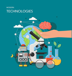modern technologies in flat vector image