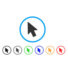 mouse cursor rounded icon vector image