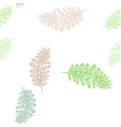 multicolor fern frond silhouettes seamless vector image