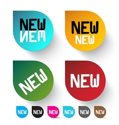 New Labels Set - Colorful Icons vector image
