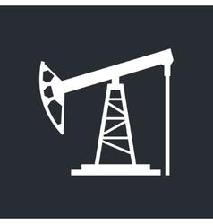 Oil derrick sign vector