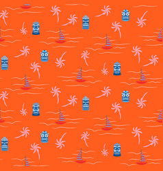 orange hot colors aloha hawaii ocean seamless vector image