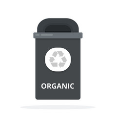 organic waste can flat isolated vector image