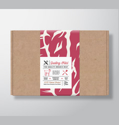 premium quality goatling fillets craft cardboard vector image